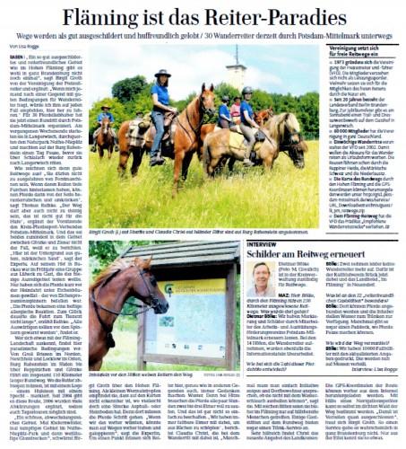 Erschienen in der Märkischen Allgemeinen Zeitung am 12.07.13