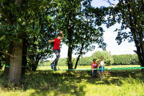 Slackline Ausflug Abenteuercamp in Groß Briesen